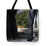 Standing Before The Eternal Flame Tote Bag
