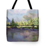Standing Guard Over Yosemite Valley Tote Bag