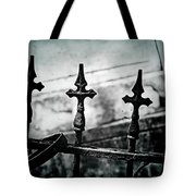 Standing Guard By Loved Ones - Bw Texture Tote Bag
