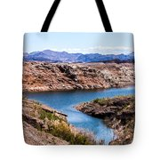 Standing In A Ravine At Lake Mead Tote Bag
