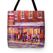 Standing In Line At The Chateau Tote Bag