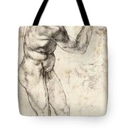 Standing Male Nude Tote Bag