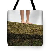 Standing On A Jetty Tote Bag