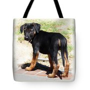 Standing Puppy Tote Bag