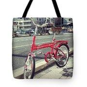 Standing Red Bike Tote Bag