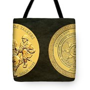 Standing Rock Sioux Tribe Code Talkers Bronze Medal Art Tote Bag