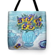 Stangl Pottery And Pansies Tote Bag