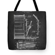 Stanton Bass Drum Patent Drawing From 1904 - Dark Tote Bag