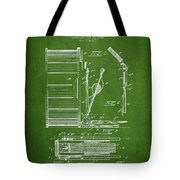 Stanton Bass Drum Patent Drawing From 1904 - Green Tote Bag