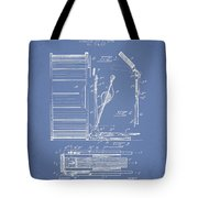 Stanton Bass Drum Patent Drawing From 1904 - Light Blue Tote Bag