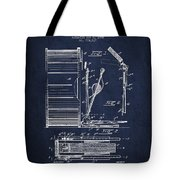 Stanton Bass Drum Patent Drawing From 1904 - Navy Blue Tote Bag