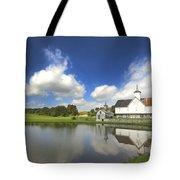 Star Barn And Pond Tote Bag