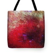 Star Burst - Red Abstract Art By Sharon Cummings Tote Bag