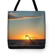 Star Jet Sunrise Silhouettte Tote Bag