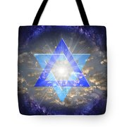 Star Of David And The Milky Way Tote Bag
