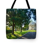 Star Over The Mausoleum - Henry And Arabella Huntington Overlooks The Gardens. Tote Bag