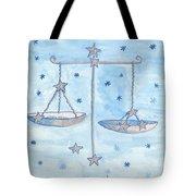 Star Sign Libra Tote Bag