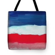 Star Spangled American Landscape Tote Bag