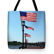 Star Spangled Banner Flags In Baltimore Tote Bag