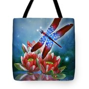 Star Spangled Dragonfly Tote Bag