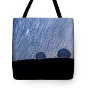 Star Trails Above Keck Tote Bag