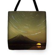 Star Trails Around South Celestial Pole Tote Bag