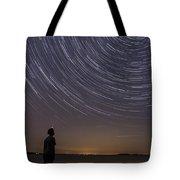 Star Trails Night Sky Landscape Vermont Lake Champlain Tote Bag