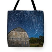 Star Trails Over Barn Tote Bag