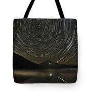 Star Trails Over Mount Hood At Trillium Lake Tote Bag