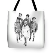 Star Trek - Meeting With V'ger Tote Bag by Liz Molnar