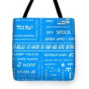 Star Trek Remembered In Blue Tote Bag by Georgia Fowler
