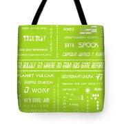 Star Trek Remembered In Green Tote Bag by Georgia Fowler