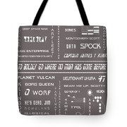 Star Trek Remembered In Grey Tote Bag
