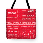 Star Trek Remembered In Red Tote Bag