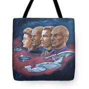 Star Trek Tribute Captains Tote Bag