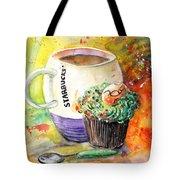 Starbucks Mug And Easter Cupcake Tote Bag