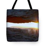 Starburst At Mesa Arch Tote Bag