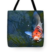 Stare Down With A Koi Tote Bag