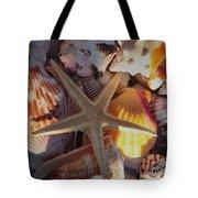 Starfish And Sun Rays Tote Bag