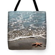 Starfish Catching The Waves Tote Bag