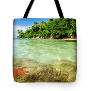 Starfish In Clear Water Tote Bag