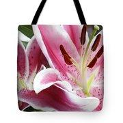 Stargazer Lily Flowers Closeup Tote Bag