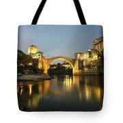 Stari Most By Night  Tote Bag