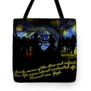 Staring At The Starry Night In The Moma Tote Bag