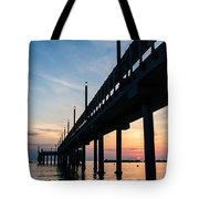 Staring At The Sun - Sunrise On The Beach Tote Bag