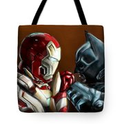 Stark Industries Vs Wayne Enterprises Tote Bag