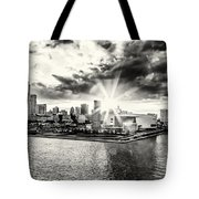 Starlight Over The American Airlines Arena Tote Bag