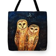 Starlight Owls Tote Bag by Shijun Munns