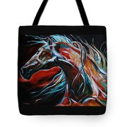 Starlight Run Tote Bag by Laurie Pace
