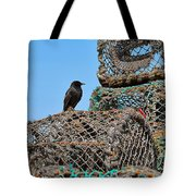 Starling On Lobster Pots Tote Bag